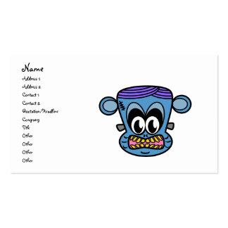Mono de Frankenstein en azul Tarjetas De Visita