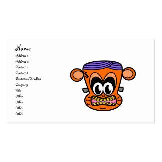 Mono de Frankenstein en naranja Tarjetas De Visita