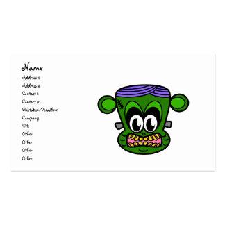 Mono de Frankenstein en verde Tarjetas De Visita