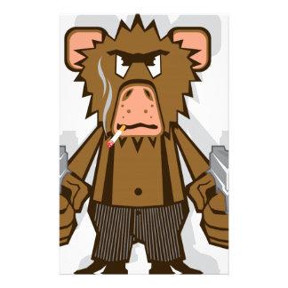 Mono de Gangsta Papelería Personalizada