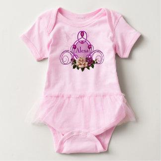 Mono de hadas Jeweled del tutú del bebé del rosa Body Para Bebé