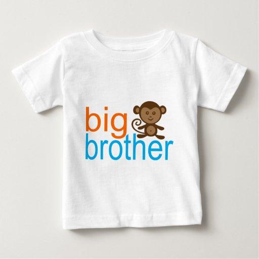 Mono de hermano mayor playera de bebé