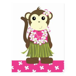 Mono de Hula Tarjeta Postal