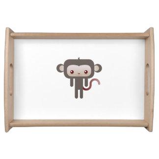 Mono de Kawaii Bandeja