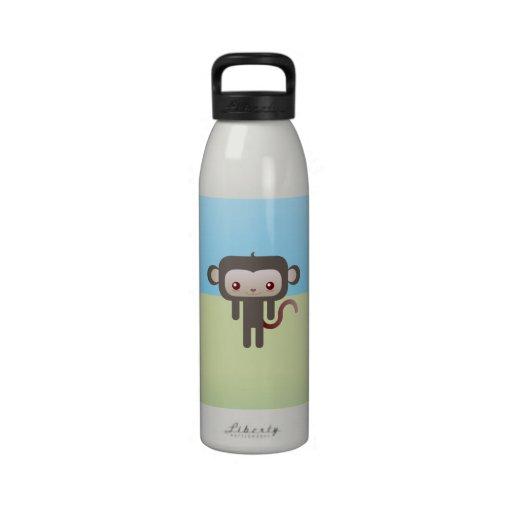 Mono de Kawaii Botellas De Agua Reutilizables