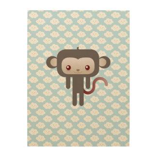 Mono de Kawaii Cuadro De Madera