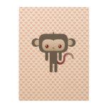Mono de Kawaii Impresión En Madera