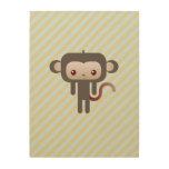 Mono de Kawaii Impresiones En Madera