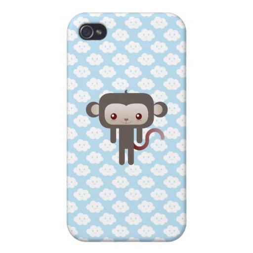 Mono de Kawaii iPhone 4/4S Carcasa