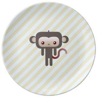 Mono de Kawaii Platos De Cerámica