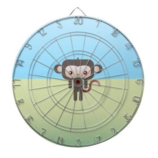Mono de Kawaii Tablero De Dardos