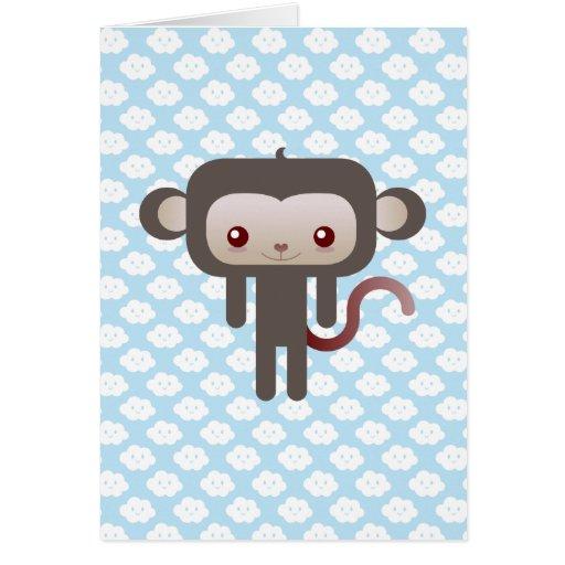 Mono de Kawaii Tarjeta De Felicitación
