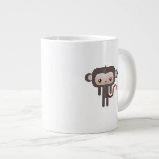 Mono de Kawaii Taza Extra Grande