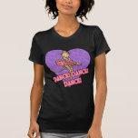 Mono de la bailarina camiseta