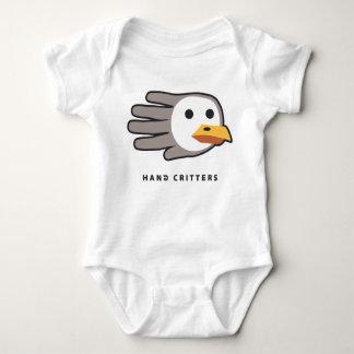 Mono de la camiseta del bebé de la gaviota
