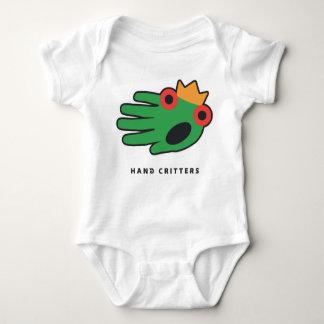 Mono de la camiseta del bebé de la rana