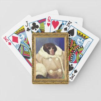 Mono de la capa en un marco del oro. Con clase est Baraja Cartas De Poker