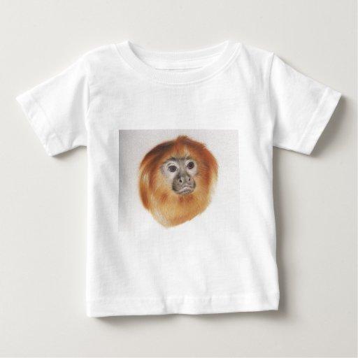 Mono de la cara roja playera de bebé