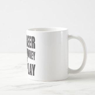 Mono de la cerveza taza de café