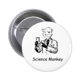 Mono de la ciencia pin redondo de 2 pulgadas