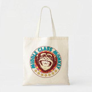 Mono de la clase media bolsa tela barata