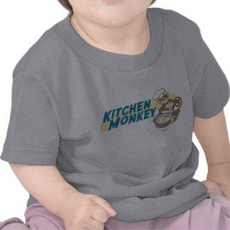Mono de la cocina - bebé camiseta