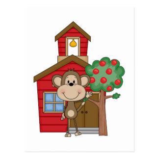 Mono de la escuela postales
