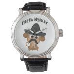 Mono de la fiesta relojes de pulsera