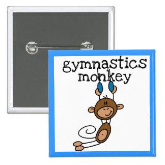 Mono de la gimnasia pin cuadrada 5 cm