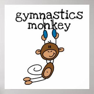 Mono de la gimnasia póster
