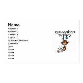 Mono de la gimnasia tarjetas de visita