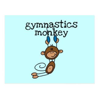 Mono de la gimnasia tarjetas postales
