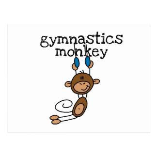 Mono de la gimnasia postales