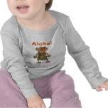 Mono de la hawaiana camiseta