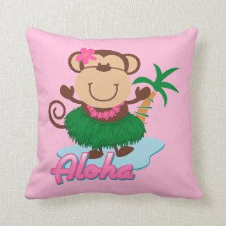 Mono de la hawaiana cojines