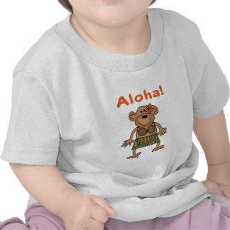 Mono de la hawaiana camisetas