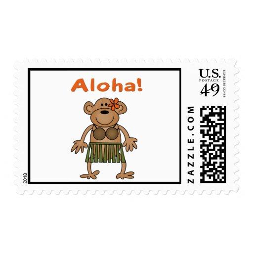 Mono de la hawaiana sellos