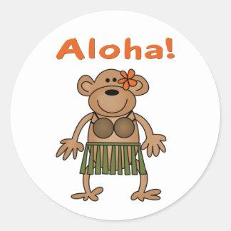 Mono de la hawaiana pegatina
