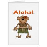 Mono de la hawaiana tarjeta