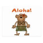 Mono de la hawaiana tarjeta postal