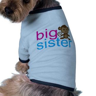 Mono de la hermana grande camisa de mascota
