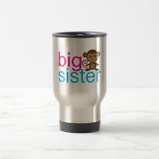 Mono de la hermana grande taza de viaje de acero inoxidable