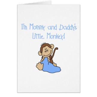 Mono de la mamá y del papá - camisetas y regalos a tarjeta de felicitación