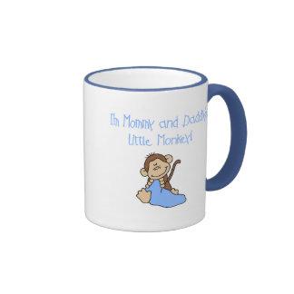 Mono de la mamá y del papá - camisetas y regalos a taza