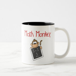 Mono de la matemáticas taza dos tonos