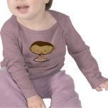 Mono de la niña camisetas