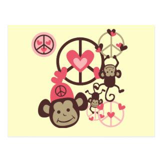 Mono de la paz postal
