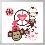 Mono de la paz poster