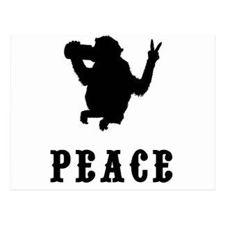 Mono de la paz tarjeta postal