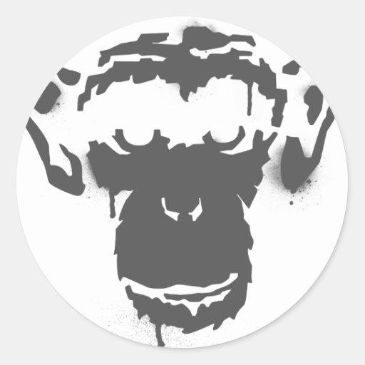 Mono de la pintada etiquetas
